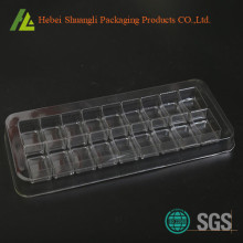 Clear PET plastic candy tray