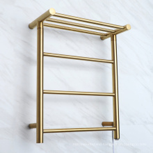 Golden or silver color electric towel rack for bathroom