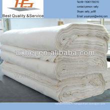 Haute qualité usine prix écru poly coton gris hotm tissu