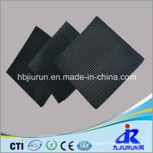 Black Fine Ribbed Anti-Slip Rubber Sheet for Floor