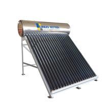 Aquecedor solar de água 200L tanque de água em aço inoxidável