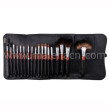 18PCS cepillo cosmético profesional del maquillaje con el bolso cosmético negro