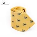 Corbata hecha a mano de encargo de los hombres de negocios lisos