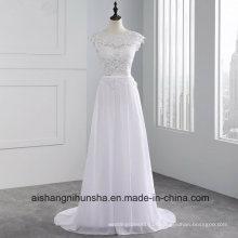 Mulheres sem mangas Chiffon Long Evening Party Prom Dress