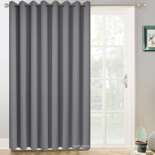 Серые шторы для раздвижных дверей