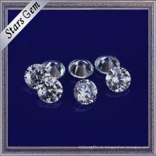 A estrela maravilhosa cortou a cor branca 3mm CZ redondo apedreja a zircônia cúbica para a factura da jóia