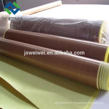 PTFE adhésif en fibre de verre bande 0,13 mm d'épaisseur
