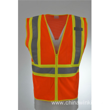 Hi Vis Safety Workwear Executive Reflective Vest Waistcoat Jacket
