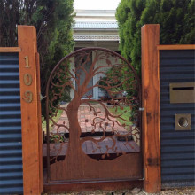 Laser Cut Corten Steel Gate