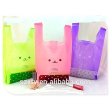 PE Underwear Plastic Clothes Bag with handle