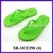 2015 colorful flip flop for women beach slipper