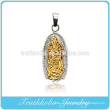 Truthkobo Old Design 316l Stainless Steel Two Tone Blessed Mother Mary Pendant Jewelry