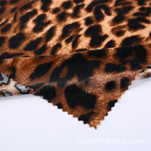 Fashionable Rajutan Stretch Spandex Leopard Print Fabric