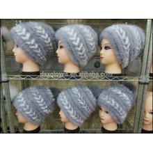 Fashion Lady Mink Fur Caps For Winter