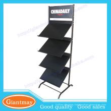 Attractive and durable design metal brochure holder floor stand