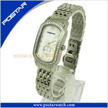 Reloj 2016 de las señoras de la venta caliente con la venda de acero inoxidable Psd-2501