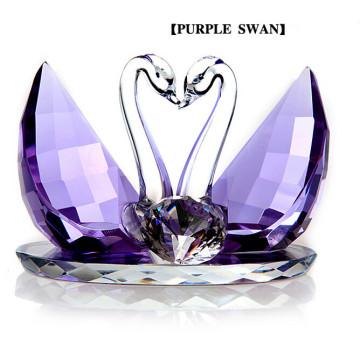 Beautiful Animal Crystal Glass Swan Craft for Wedding Gifts