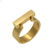 Moda personalizado simples aço inoxidável barra inox anel