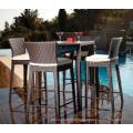 Patio jardin osier Bar extérieur de meubles rotin Stool Set