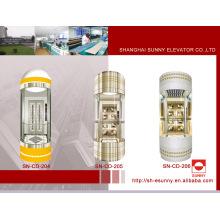 Cabine de elevador de observação com vidro laminado (SN-CD-204)