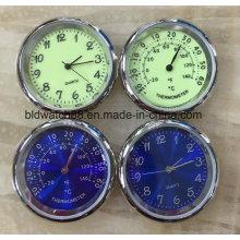 Promoção Gift Metal Clock Insert with Japan Movement (34.5mm)