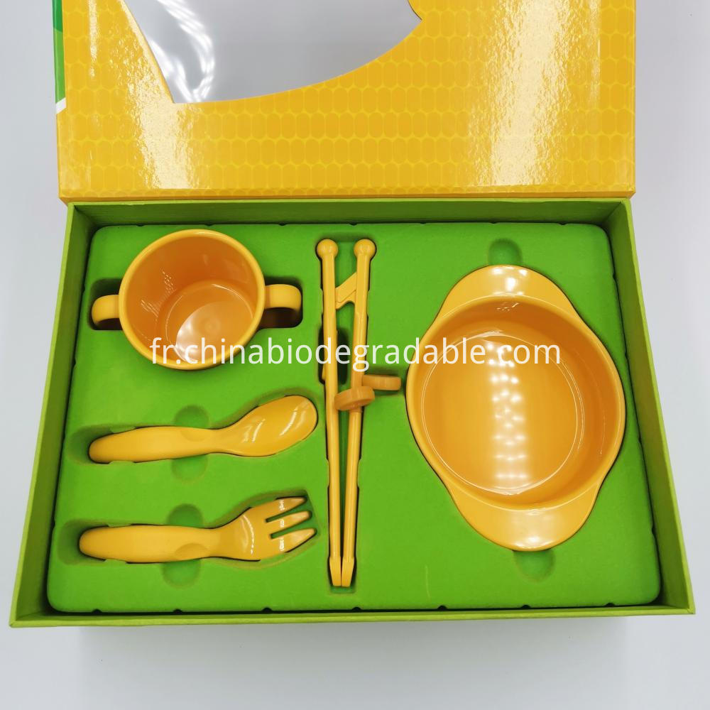 Compostable Corn-based Toddler Dinnerware Set