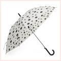 Auto Open DOT Impression de parapluie blanc droit (BD-69)
