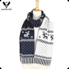 Lady′s Fashion Acrylic Jacquard Deer Scarf