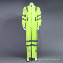 Poly Hi-Viz Reflective Coverall Working Garment with Reflective Tape (BLY1008)