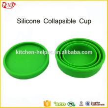 Hot vendendo portátil plegável Silicone Coffee Cup