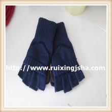 чистый цвет мужской вязаный вырезать лоскут перчатки пальцев