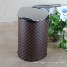 Stainless Steel Lip Leather Aotomatic Sensor Dust Bin (E-12LB)