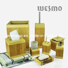 Accessoire de bain en bambou carré (WBB0311A)