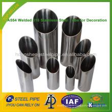 A554 tube en acier inoxydable 316 soudé pour décoration