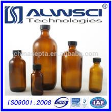 120ml de armazenamento farmacêutico Amber Boston Round Glass bottle