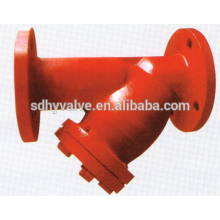 PN16 ANSI B16.1 Class125 Cast Iron Flange end Y-strainer