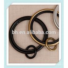 50 milímetros de ouro preto de prata do anel de cortina de metal, anéis de gancho anel de cortina, anéis de metal para cortinas