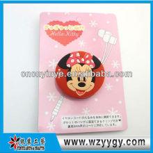 Mignon doux pvc promotionnel porte-câble avec pince