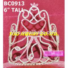 Coroa de strass de boneca de beleza