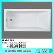 Vente chaude pas cher acrylique baignoire en plastique avec des prix