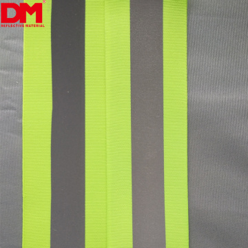 Yellow green reflective webbing with reflective tape