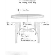 Table d'extérieur en plastique moule (YS99)