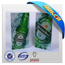 Proporcionar póster publicitario de cerveza lenticular en 3D y voltear