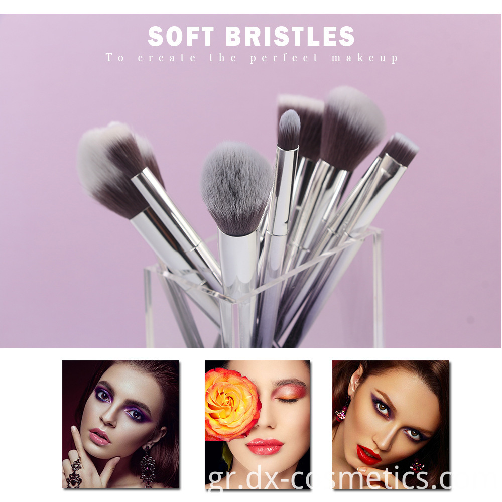 10 Pcs Graduated Color Makeup Brushes 2