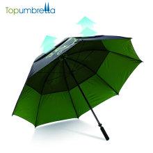 Ветрозащитный руководство открыть зонтик гольфа в зеленый цвет