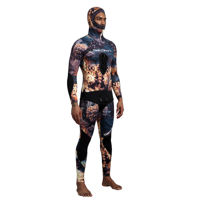 Dw014 Seaskin Two Pieces Camo Wetsuit 13 1
