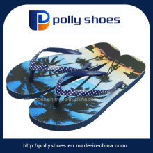 3D Logo Flat Thong Flip Flop in Ivory New Box