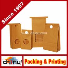 Sacos da padaria do papel de embalagem com janela e selos perfurados brancos (220097)