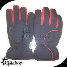 SRSAFETY Economic black PU sports hand gloves