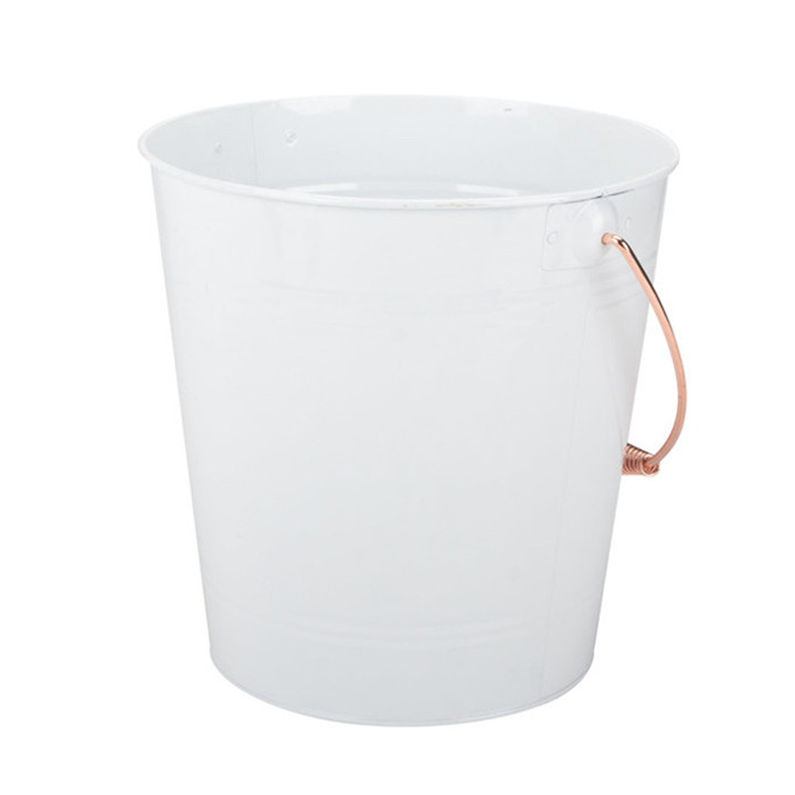 White Metal Favor Pail